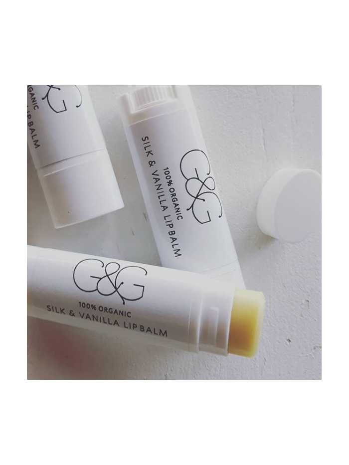 lip balm tube - 100% organic pure silk & vanilla 0.17 OZ. - 5 g ℮